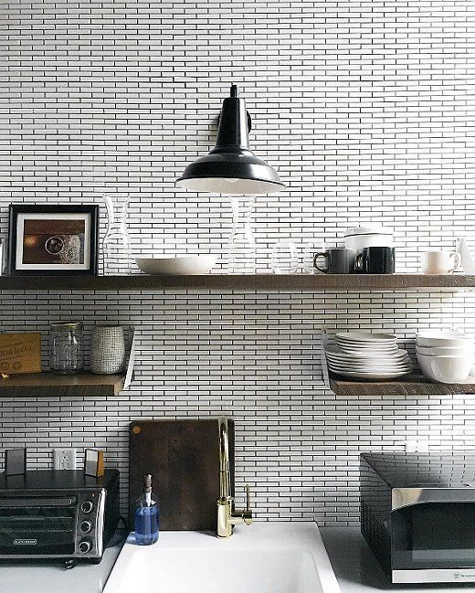 The Beauty Of Timeless Subway Tiles: #OKLObsessed: Timeless Tuxedo Kitchens