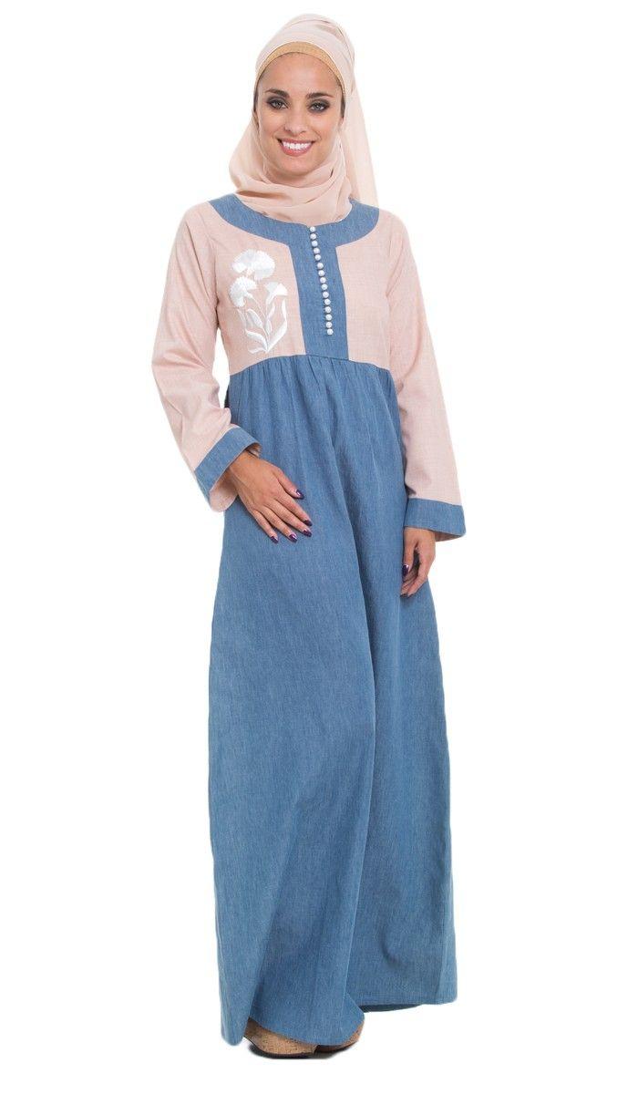 Hijab Long Sleeve Maxi Dress | Maxi Dresses | Pinterest | Denim ...