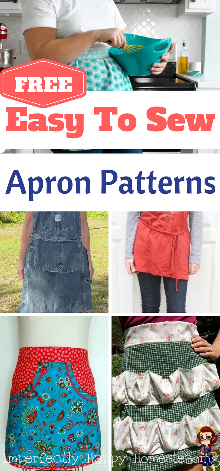 15 FREE Easy to Sew Apron Patterns (perfect for homesteaders ...