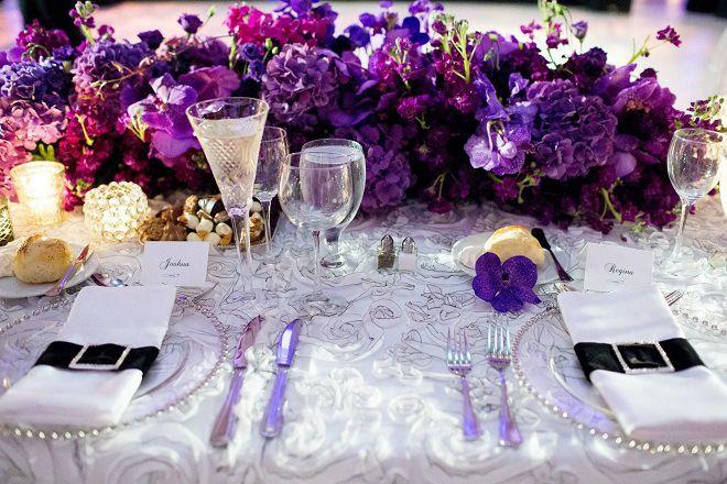purple head table evantine design wedding flowers | cars.com ...