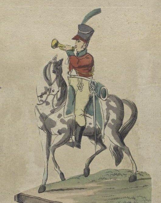 Olivenza 1809 Cazadores. Trompeta