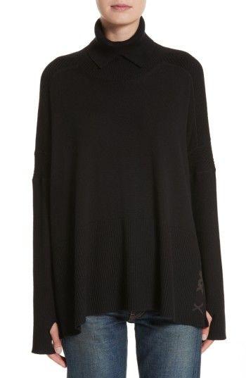 Burberry Womens Burberry Potenza Wool Cashmere Turtleneck Sweater
