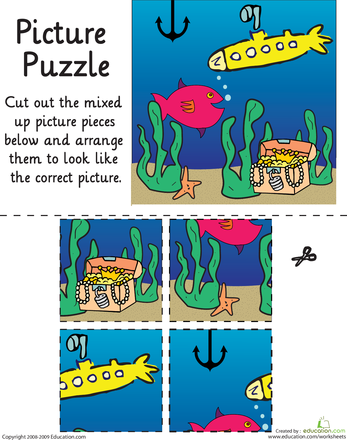 Picture Puzzle: Under the Sea | Picture puzzles, Worksheets and ...