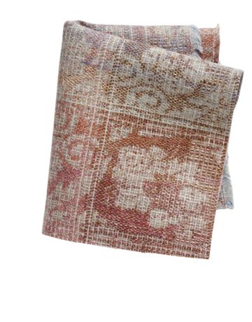 Luxembourg Gardens ~ woven to look a little worn, faded, much-loved. wool, linen, in Multi. Rose Cumming By Dessin Fournir