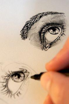 Desenho de olho lin