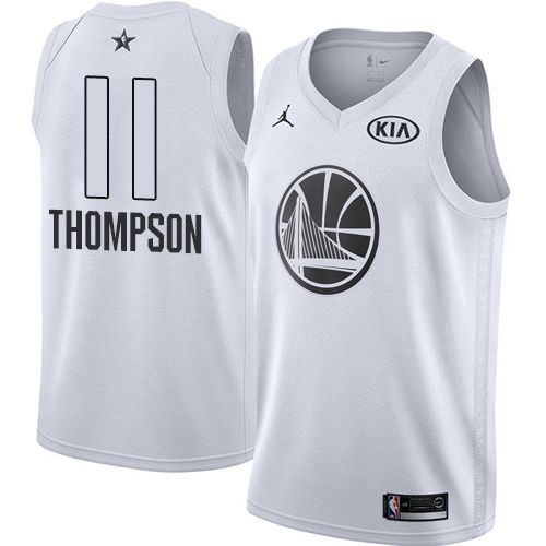 9010ac7936d Nike Warriors  11 Klay Thompson White Youth NBA Jordan Swingman 2018 All-Star  Game Jersey