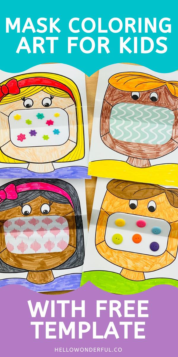 Mask Coloring Ar For Kids Art For Kids Back To School Activities School Activities