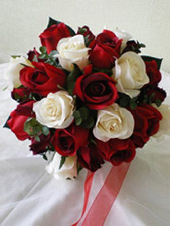 Flowers White Red Roses And Ivory Of Traditional Bridesmaid BouquetsRainbow DressesRed Wedding