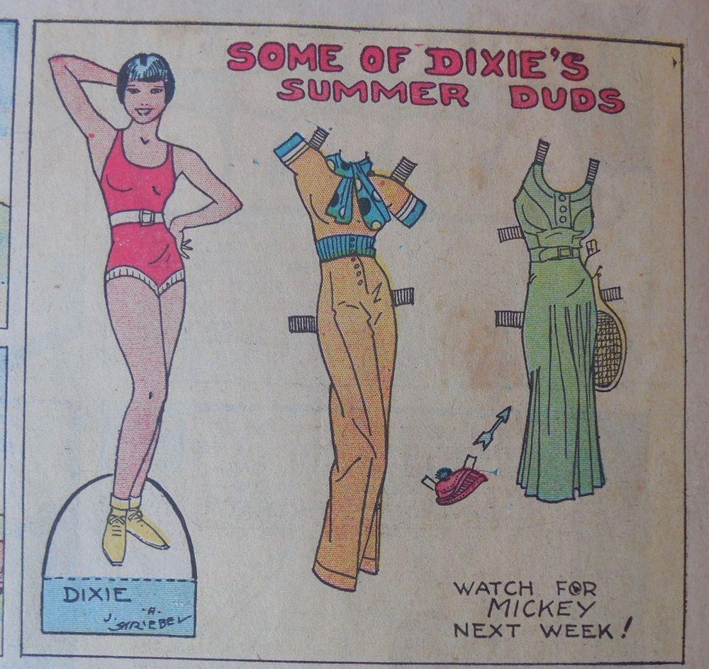 Dixie Dugan Sunday From 6 11 1933 Year 1 Very Rare Louise Brooks  # Muebles Dixie Merida
