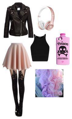 Pink Fuzzy Pentagram: Pastel Goth #emofashion