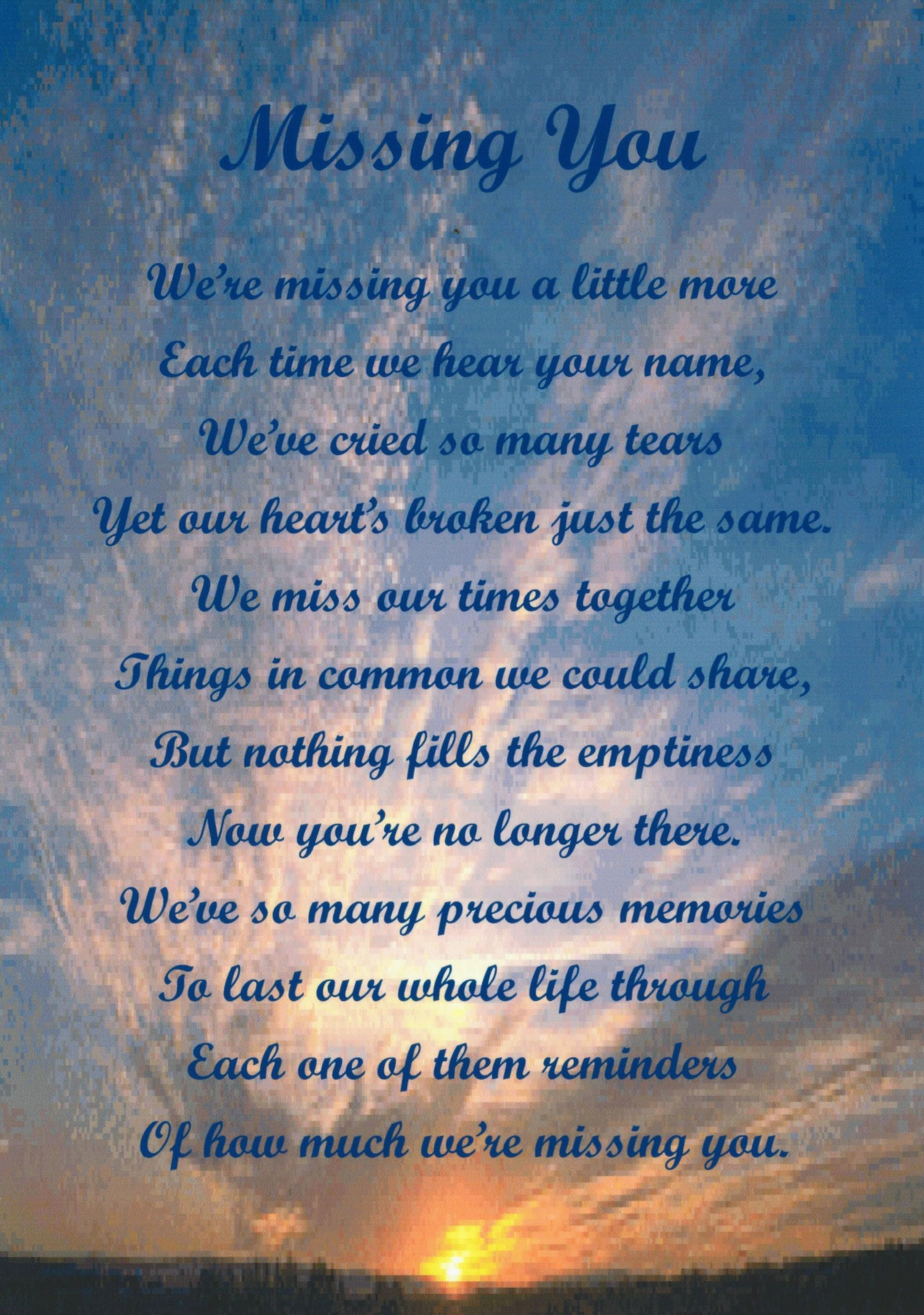 Quotes About Lost Loved Ones In Heaven 1 Year Anniversary Memorial Poems17 Pics In Our Database For