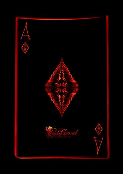 Ace Of Diamonds By Ladycarnal Deviantart Com Playing Cards Art