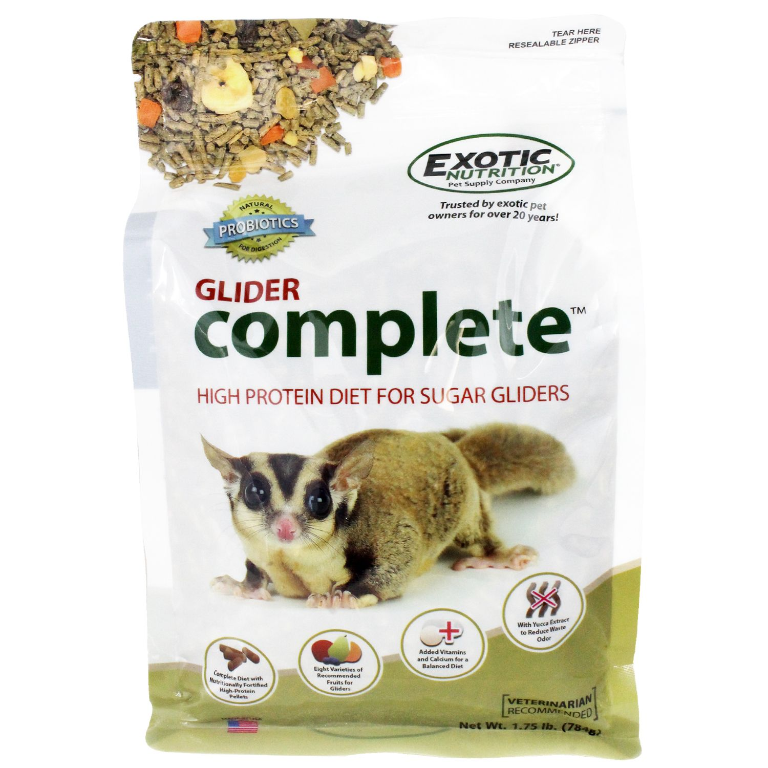 High Quality Sugar Glider Food With 8 Varieties Of Real Fruit