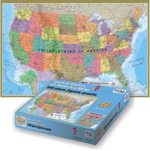 Maps International USA 500-Piece Puzzle (bestseller) | MAPS ...