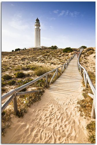 Path To The Light Andalusia Beautiful Lighthouse Lighthouse