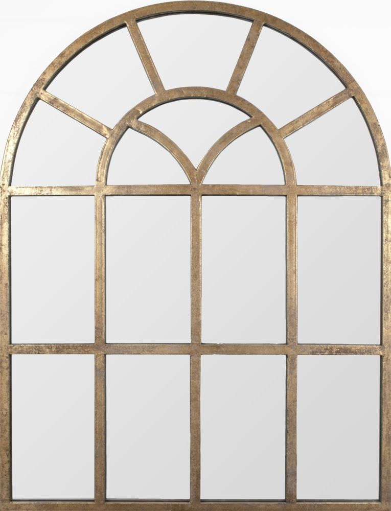 Metal arch mirror finished in Distressed Gold Leaf,Distressed Gold ...
