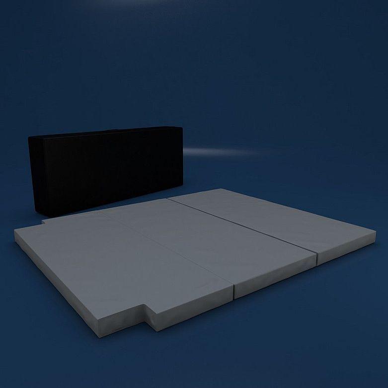 VW T5 T6 Schlafauflage Matratze Bett Multiflexboard 185x148x8 cm