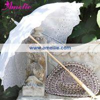 Embroidery vintage wedding parasol