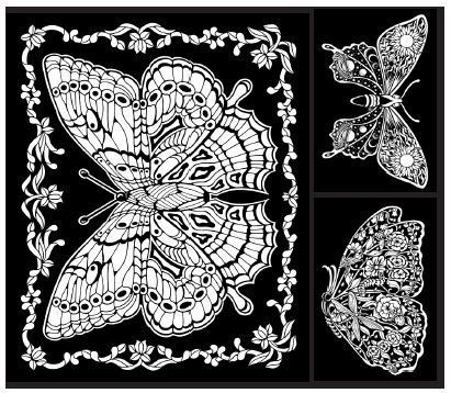 Amazon.com: Geo Butterfly - 23x20 Fuzzy Velvet Coloring Poster: Home ...