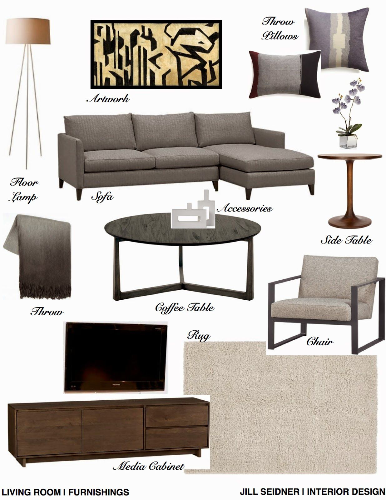 Living Room Design Concepts Brilliant Jill Seidner  Interior Design Concept Boards  My Apartment Inspiration Design