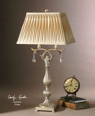 French Jeweled Floriane Table Lamp Lamp Silver Table Lamps Table Lamp