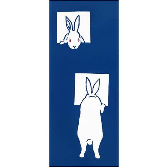 Tenugui easter gifts japanese hand towel rabbit japanese hand tenugui easter gifts japanese hand towel rabbit japanese hand towel cotton fabric tapestry gift ideas indigo blue negle Choice Image