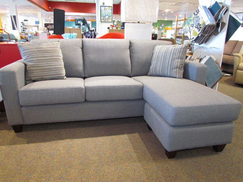 Leif Sofa W/chaise In Niche Jetty And Espresso Legs.