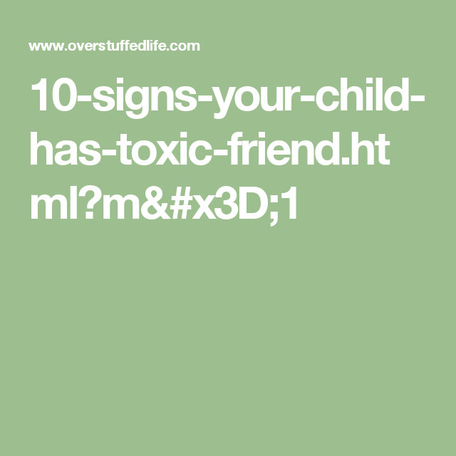 Toxic friends warning signs