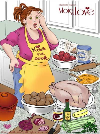 Thanksgiving stress: cooking, traveling, food issues. Tips to deal with  each of these! | Holiday illustrations, Illustration, Cute art