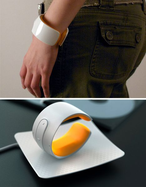 This futuristic looking piece of plastic jewelry is in fact a navigation system that…