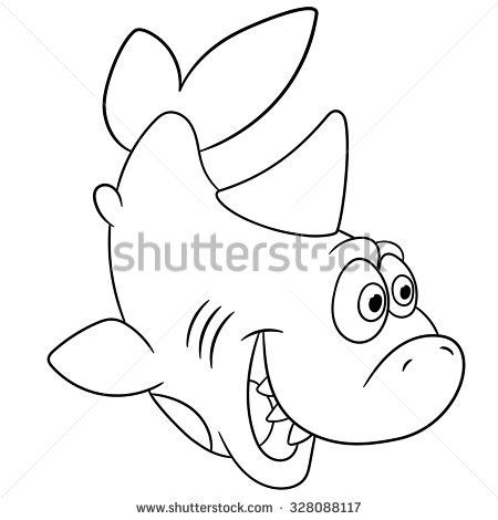 cute funny shark is surprised by something in 2019   Funny ...