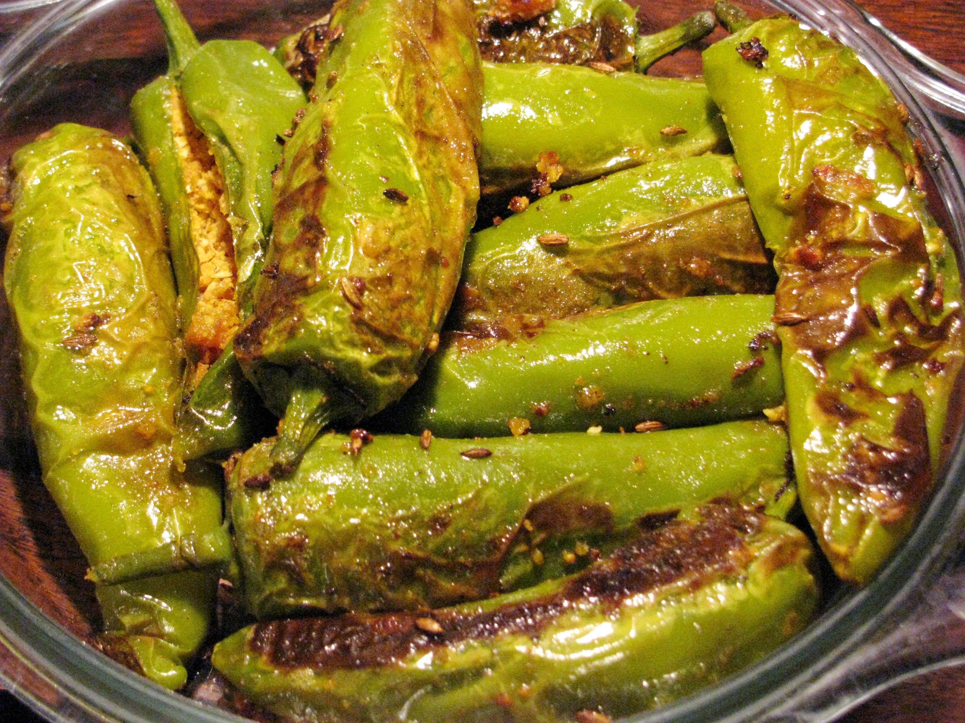 Bharela marcha / Bhareli mirchi /Stuffed chilies in 2020