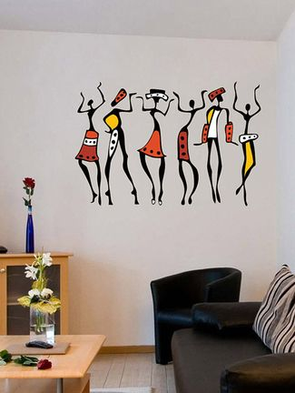 african dancing women wall sticker | decors | pinterest | black wall