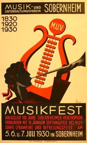 Music Festival, 1930 - original vintage poster by Melcher