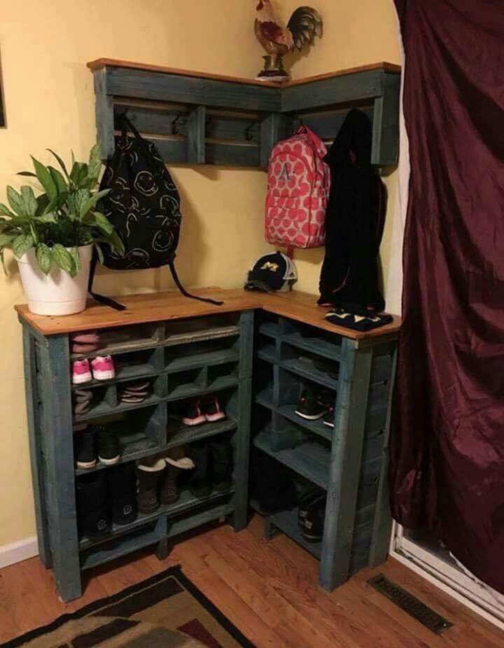 A DIY shoe rack just might be