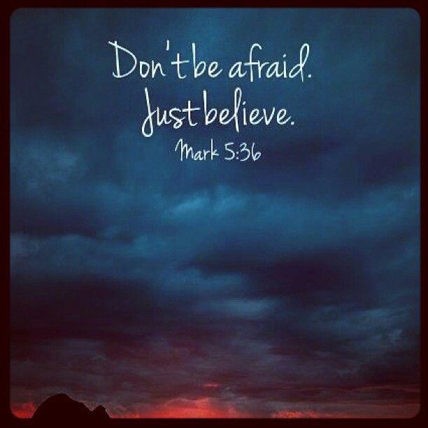 I'm not afraid :)