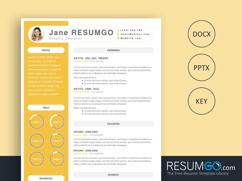 Iantha free bright resume template resumgo resume