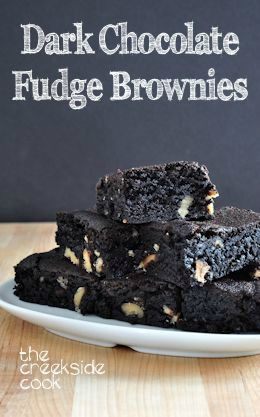 Dark Chocolate Fudge Brownies