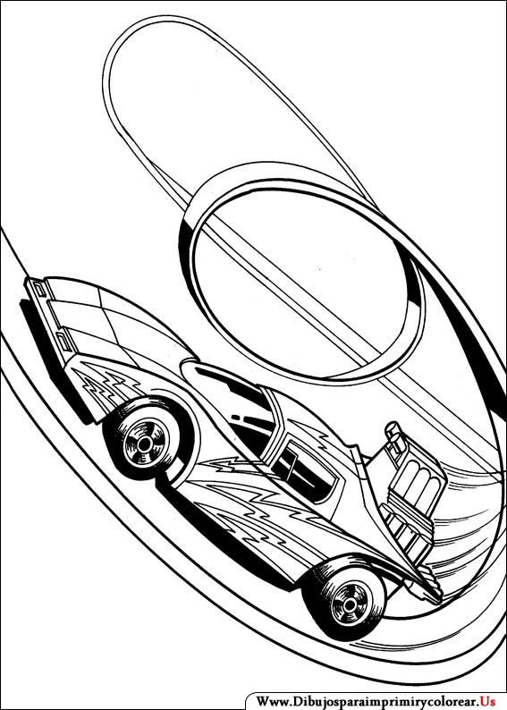 Dibujos De Hot Wheels Para Imprimir Y Colorear Raceauto Kleurplaat