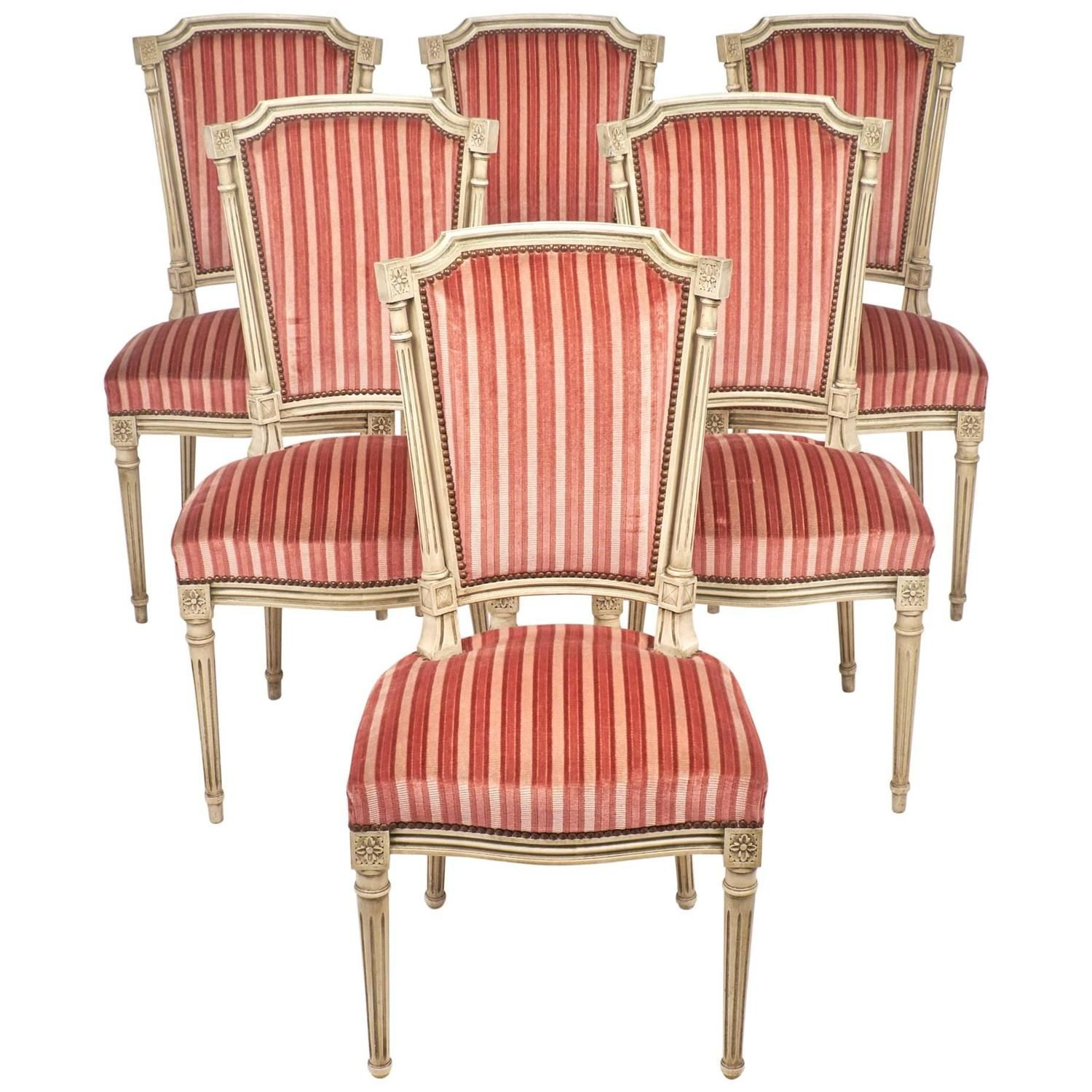 19th century louis xvi set six dining chairs - Set Of Six Dining Room Chairs