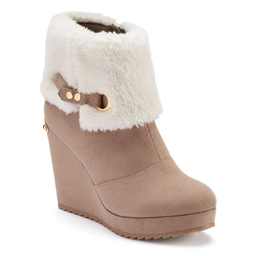 Buckle Wedge Ankle Boots | Kohls