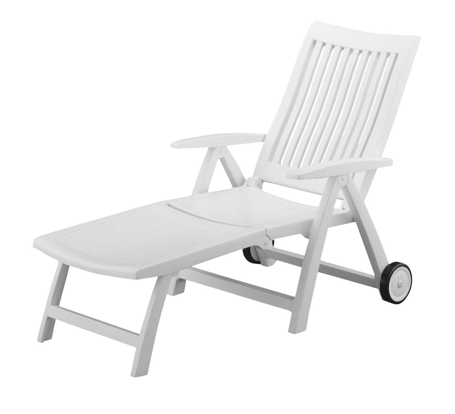 Kettler   1638 000   Roma Folding Chaise Outdoor Patio Furniture   White