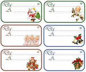 Etichette Per Regali Di Natale Da Stampare.Stampa I Chiudipacco Di Natale Con Tanti Personaggi Assortiti