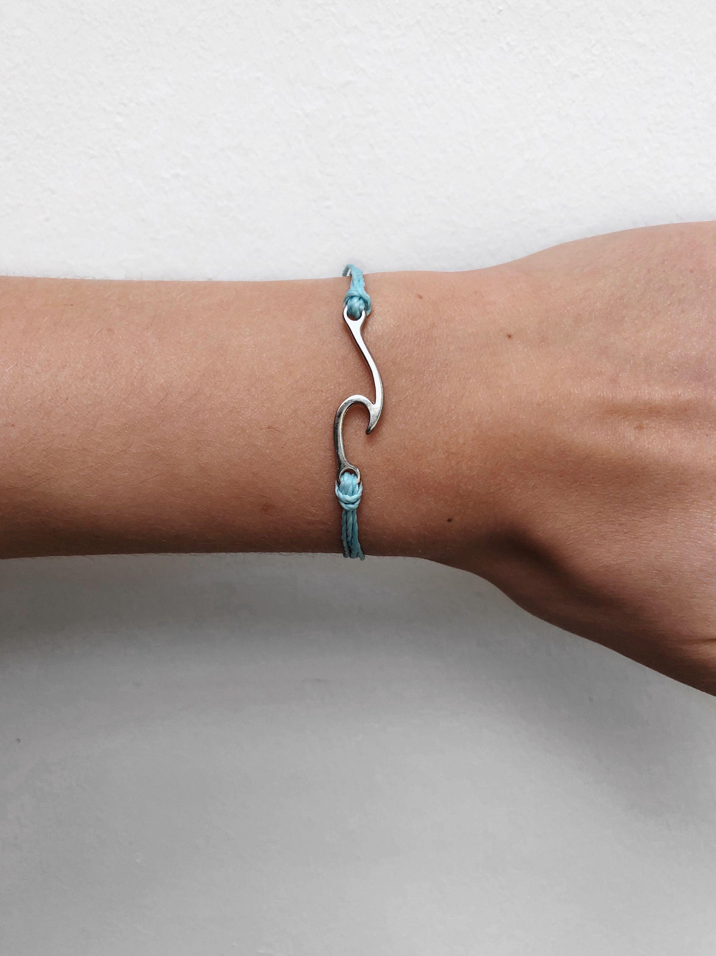 Silver Wave Jewellery Surf Bracelet