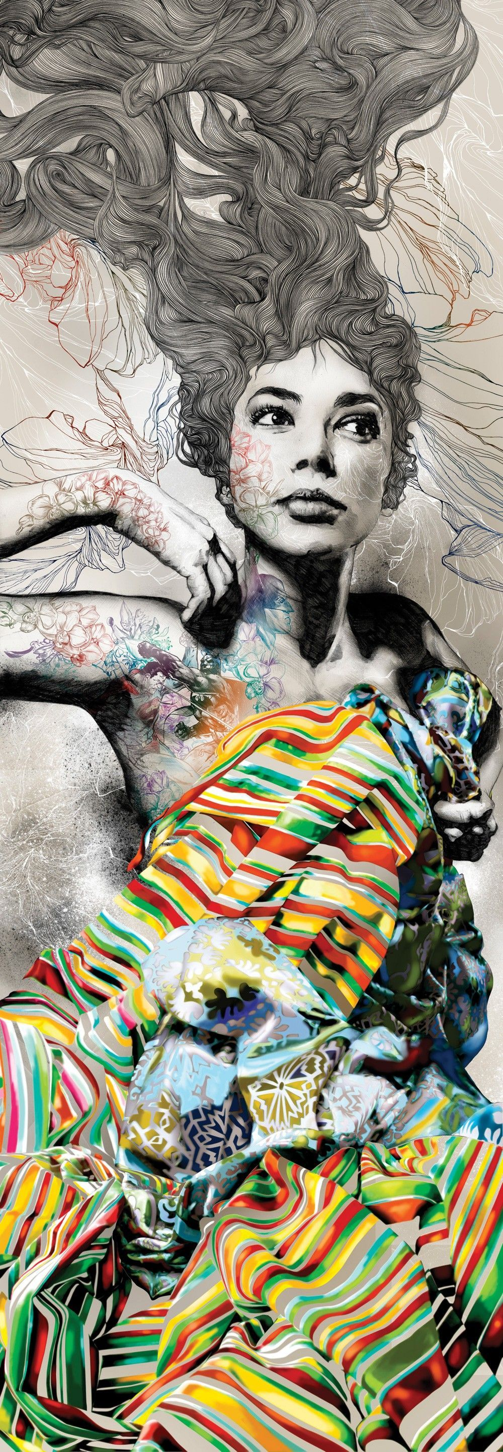 exploring feminine sensuality as a theme a conversation with gabriel moreno and debut art is part of Art - Exploring Feminine Sensuality as a Theme A Conversation with Gabriel Moreno and Début Art Digitalart Portrait
