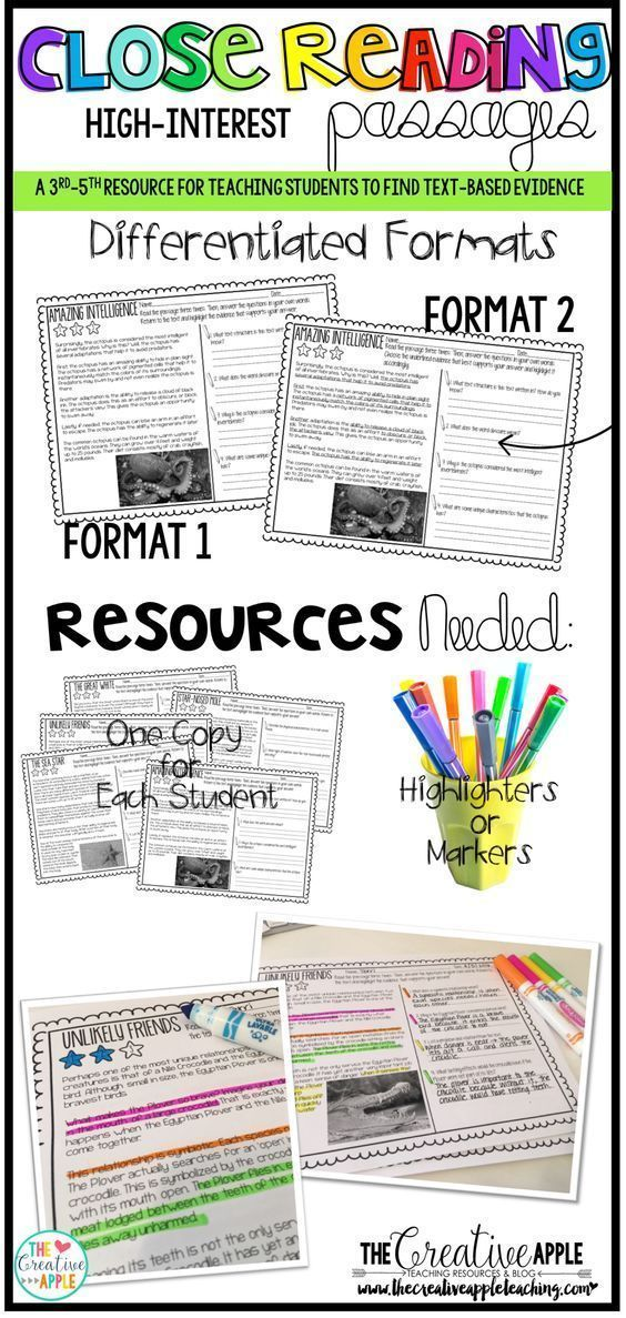 Close Reading Comprehension Pack: High Interest   Reading Ideas for