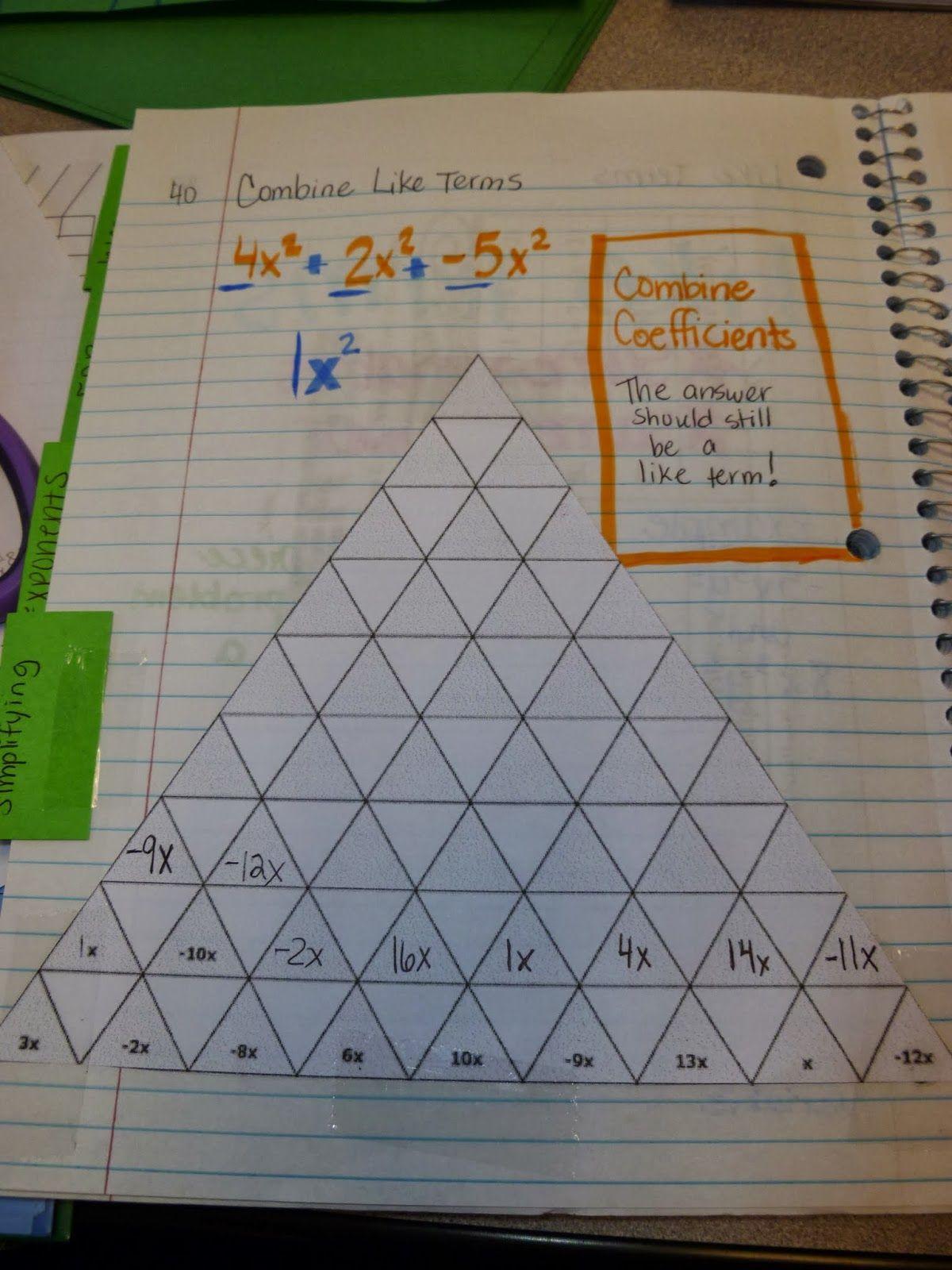 Pre Algebra Topics Isn Pages