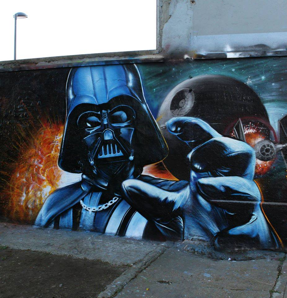 Darth Vader by Artist Flow graffiti | Street art/Graffiti ...