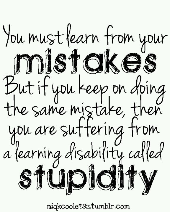 Why do some people never seem to learn their lessons ...
