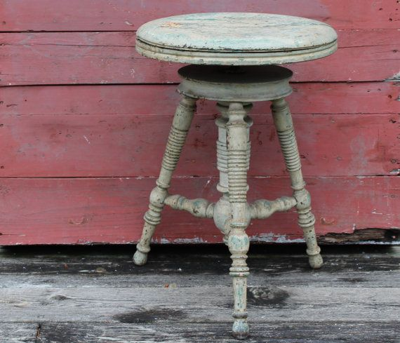 Antique Adjustable Piano Stool / Antique by JMFindsandDesigns : adjustable height piano stool - islam-shia.org